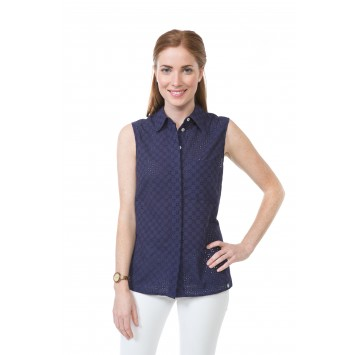 Ansley Blouse: Navy